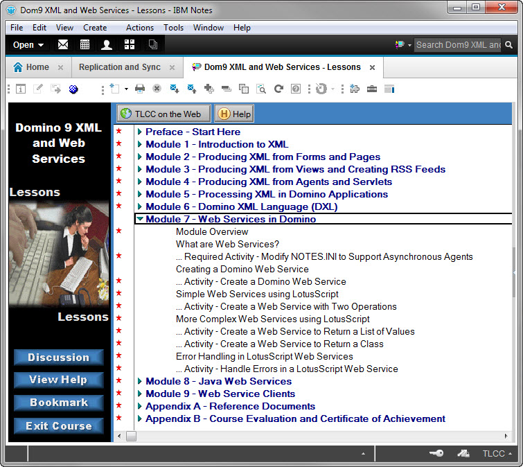 TLCC Course Details - Using XML and Web Services for Domino 9
